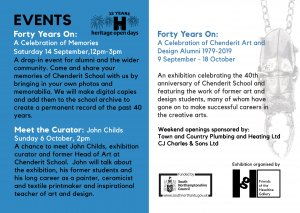 Forty Years On exhibition & Meet the Curator event
