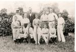 Image: School Cricket Team 1900. Teachers - Miss Belcher & Mr Chamberlain