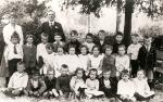 Image: School Group 1918. Teachers - Miss Plackett & Mr Chamberlain