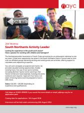 Job Opportunity - Activity Leader in South Northants